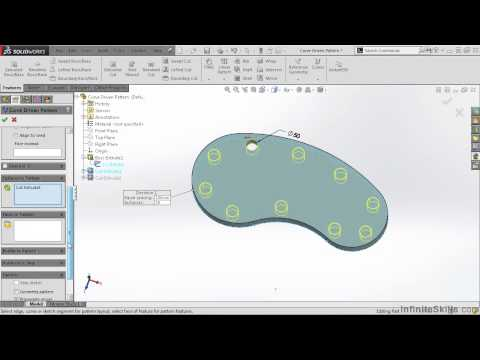 04 Intermediate SolidWorks Features 03 Curve Driven Pattern