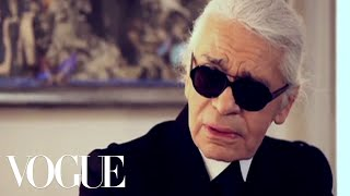 Karl Lagerfeld Talks With Hamish Bowles About His New Collection