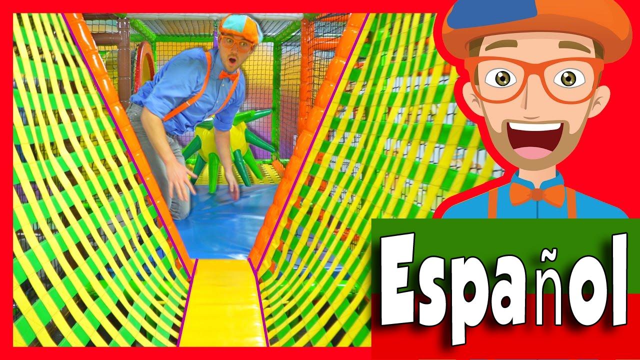 Download El Patio de Juegos Cubierto con Blippi Español | Aprende Los Colores y Más