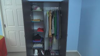 In this video, full process how I built the wardrobe from melamine boards. Parts Sizes: Side Stand - 2 x 445mm x 1805mm Internal
