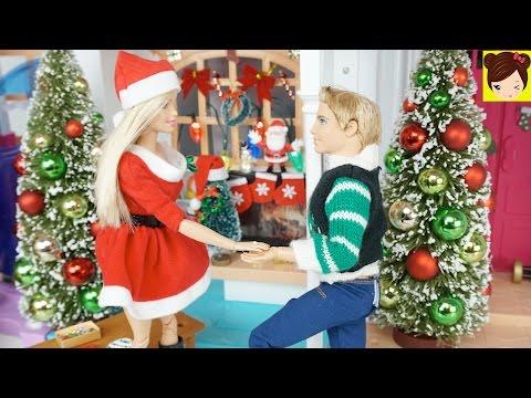 Ken le Pide Matrimonio a Barbie en la Fiesta de Navidad - con Bebes Elsa Ariel Ladybug