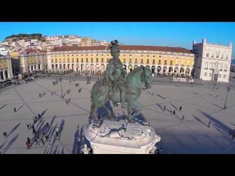 Lisboa Terreiro do Paço Portugal - Vista Aerea Drone