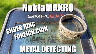 Metal Detecting:  NoktaMakro Simplex + Anfibio = Silver Ring Radness