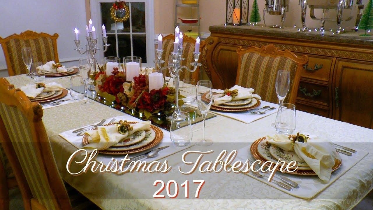 Christmas Tablescape 2017 Christmas Table Decor Tj Maxx