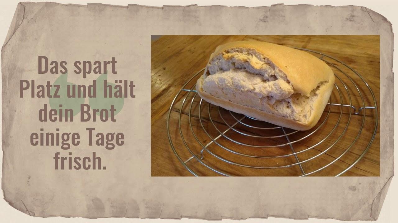 Ein Brotbeutel ist praktisch zum Aufbewahren und Transportieren von Brot