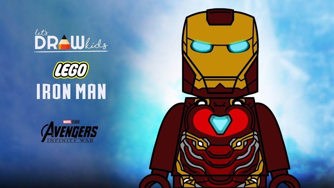 How To Draw Lego Iron Man Step By Step