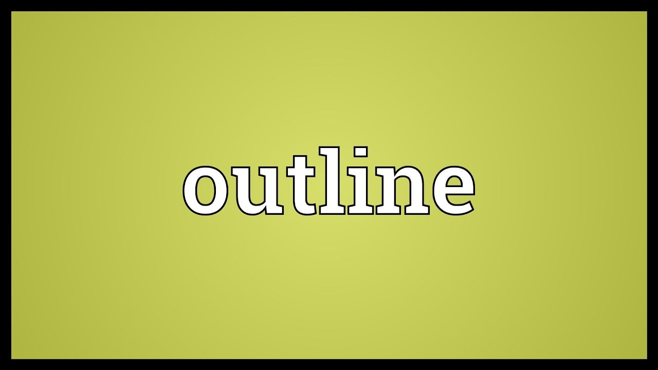 outlines meaning