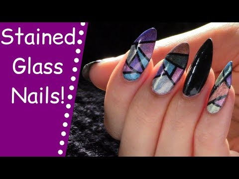 How To Do Stained Glass NAIL ART! | Stained Glass Nails HOLOGRAPHIC! | The Polish Queen