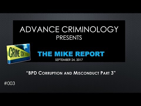 BPD Corruption and Misconduct Part 3