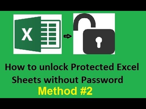 how to unlock excel workbook without password