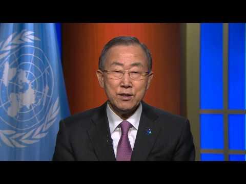 Ban Ki-moon, UN Secretary-General, International Year of Crystallography 2014