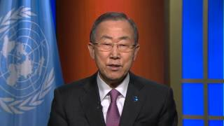 Ban Ki-moon, UN Secretary-General, International Year of Crystallography 2014