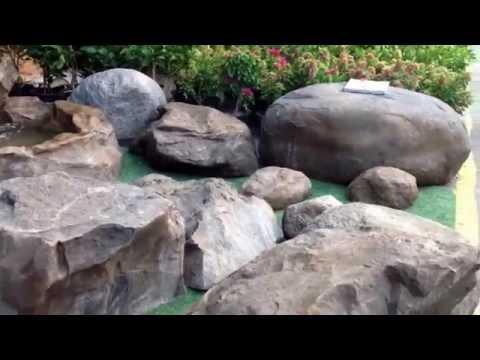หินเทียมสำหรับตกแต่งสวน สระน้ำ