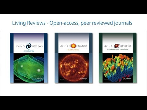 Living Reviews - Open access, peer reviewed journals