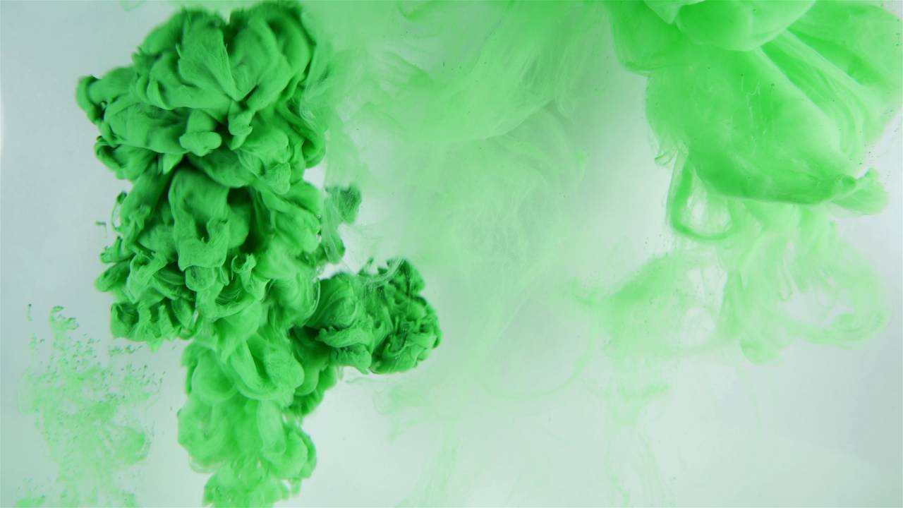 4k Ink Drop Paint In Water Green Free Stock Footage