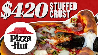 Download $420 Pizza Hut Stuffed Crust Pizza | Fancy Fast Food | Mythical Kitchen Mp3 and Videos