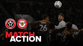Blades 2-0 Brentford - match action