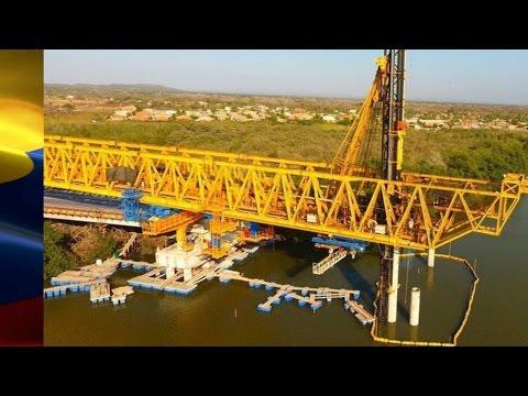 Así va la construcción del viaducto de la Ciénaga de la Virgen Cartagena
