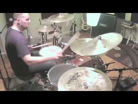 "WOLFWAKER Drum Playthrough ""Black to Blue"""