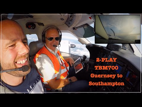 TBM700 GUERNSEY TO SOUTHAMPTON FLIGHT