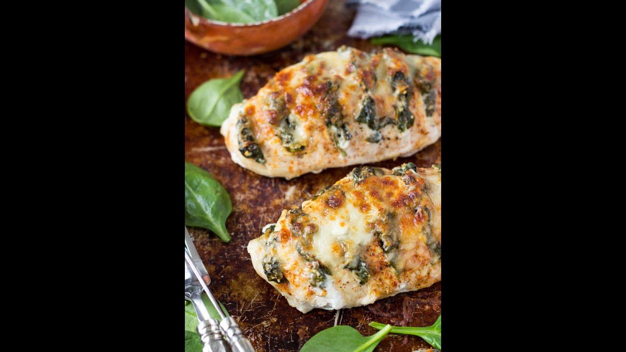 How To Make Hasselback Chicken With Ricotta Cheese And Spinach Youtube