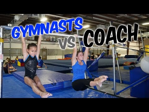 Gymnasts vs Coach - Gymnastics Competition| Rachel Marie