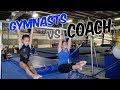 Gymnasts VS Coach Gymnastics Competition| Rachel Marie