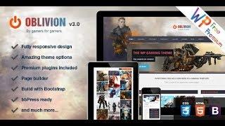 Oblivion The Ultimate Multi Purpose Gaming WordPress Theme