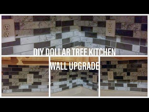 Kitchen Back Splash  Dollar Tree Backsplash DIY BackSplash Dollar Tree