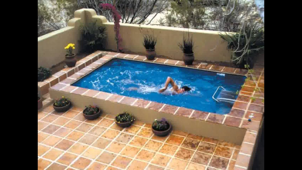 Swimming pool garden  Small Space garden swimming pools - YouTube