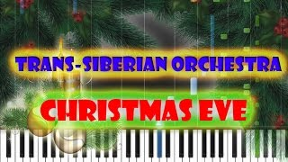 Trans-Siberian Orchestra - Christmas Eve (Sarajevo) Piano Cover [Synthesia Piano Tutorial]