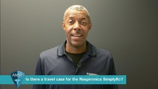 Is there a travel case for the Respironics SimplyFlo?