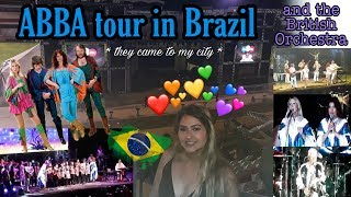 I saw ABBA in my city 😍🇧🇷 simple vlog