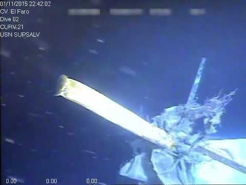 Excerpts From El Faro Submersible Survey (Location Redacted)