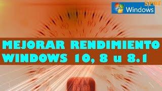 Trucos para mejorar el rendimiento de Windows 10, 8 u 8.1