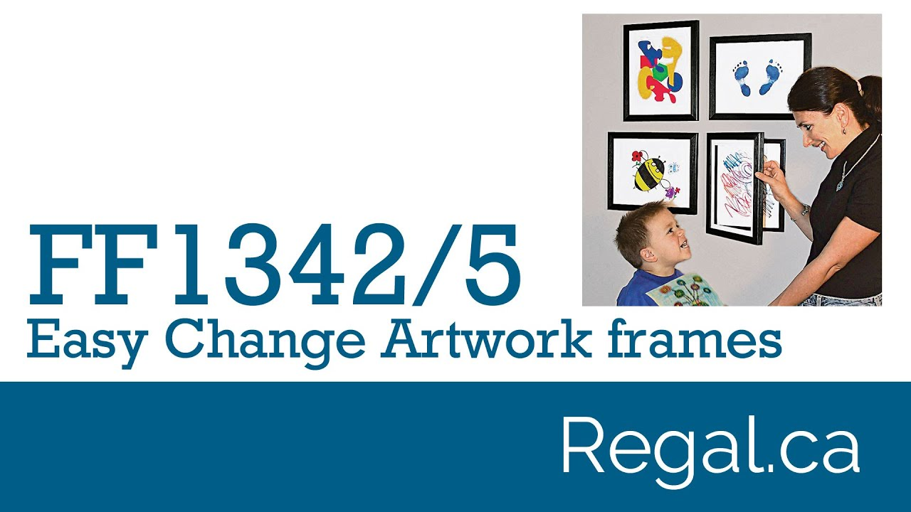 FF1342, FF1345 - Easy Change Artwork Frame from Regal Gifts - YouTube