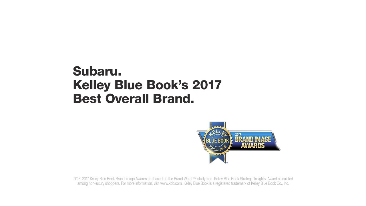 2017 Subaru Kelley Blue Book | Subaru Commercial | Only One: Best ...