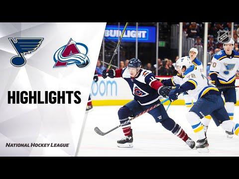 NHL Highlights   Blues @ Avalanche 1/18/20