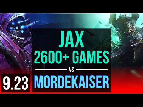 JAX vs MORDEKAISER TOP  2600+ games KDA 812 2 early solo kills  Korea Grandmaster  v923