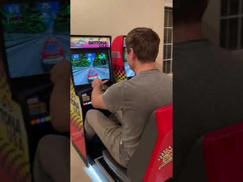 Arcade1Up Twin Daytona USA Custom mod from Funky Road