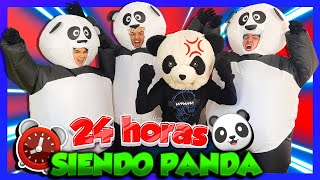 IMITANDO A PANDA POR 24 HORAS - Yolo Aventuras YouTube Videos