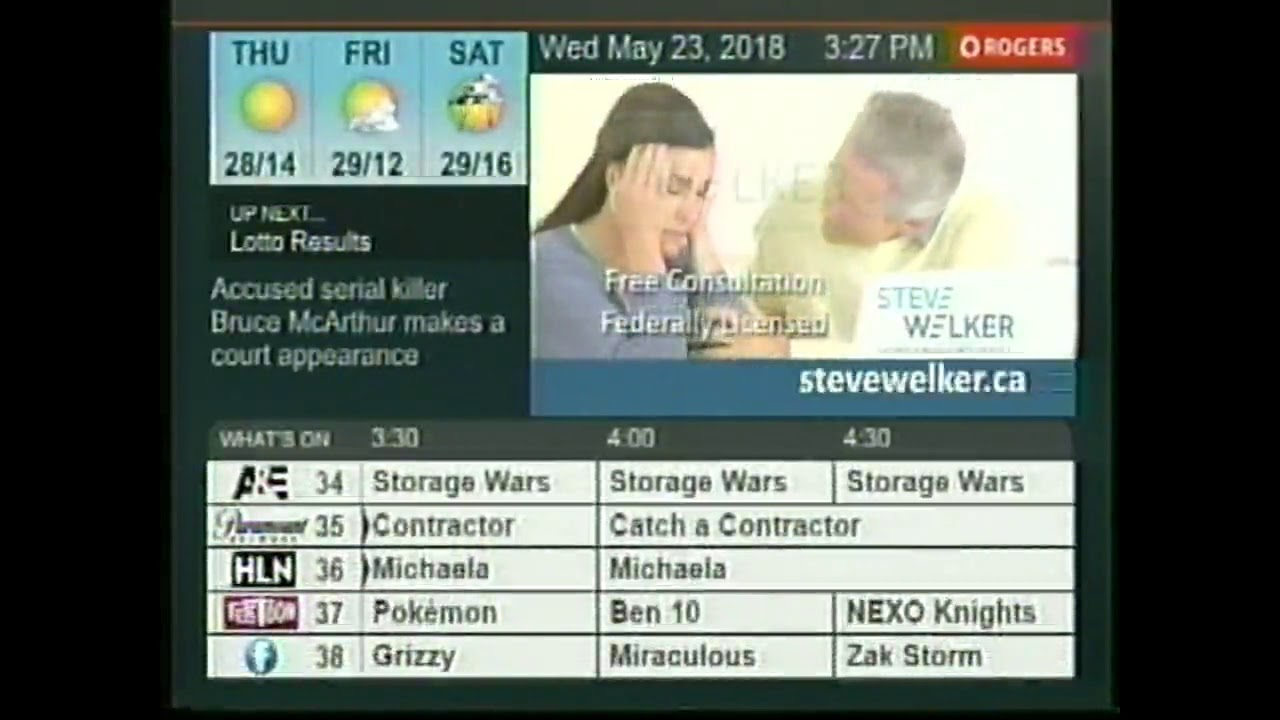 10 Minutes of TV Guide Channel Canada (2018)