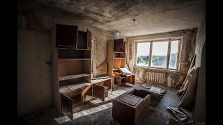 Квартиры Припяти спустя 32 года после аварии, 16 этажный дом Фудзияма