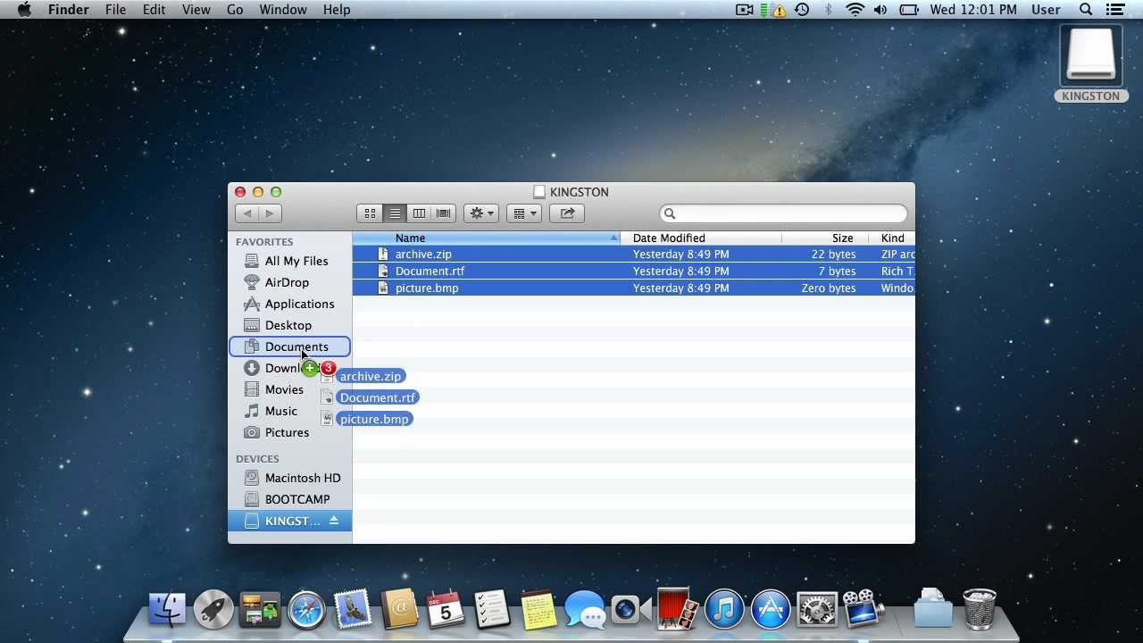 how to download to a flash drive on a mac