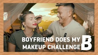 BOYFRIEND DOES MAKEUP CHALLENGE | #MyGameFace | Beauty Bay