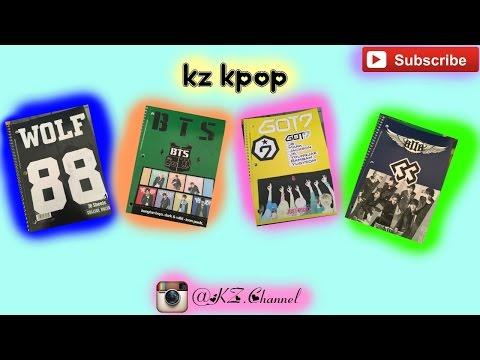 【KZ KPOP】DIY K-pop notebooks