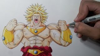 Drawing Broly the Legendary Super Saiyan