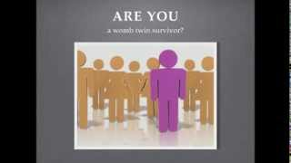 Are YOU a womb twin survivor?  The physical signs
