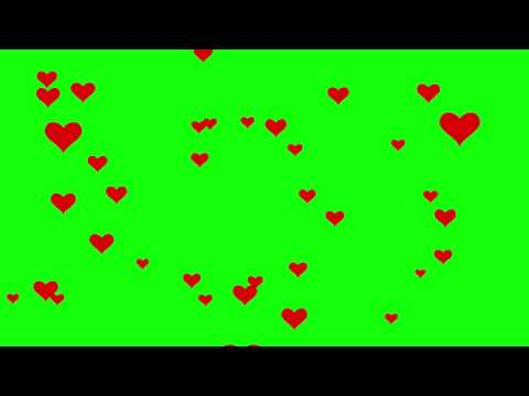Hearts Fly - 4K Green Screen FREE High Quality Effects