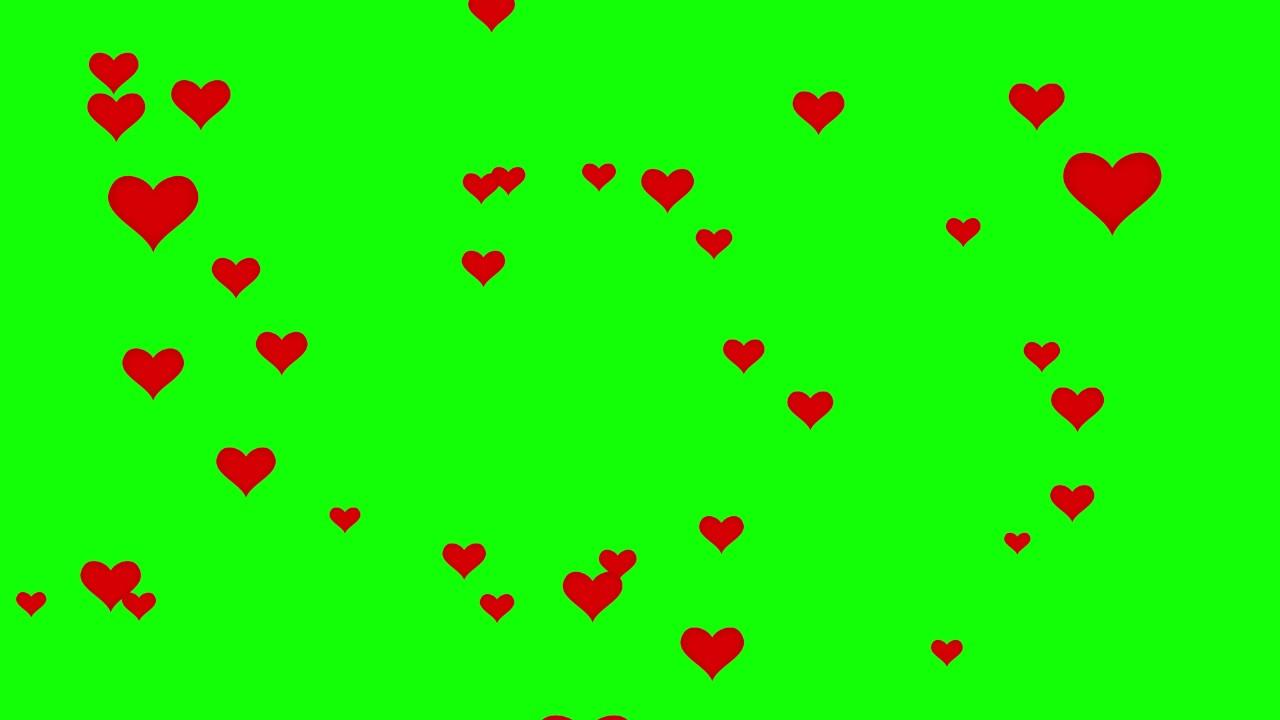 Wallpaper Cute Emojis Hearts Fly 4k Green Screen Free High Quality Effects